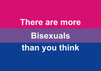 Postcard for bisexuals - front